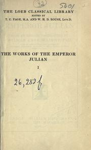 Cover of: Works: With an English translation by Wilmer Cave Wright.