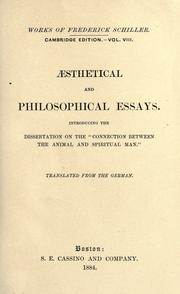 Cover of: The works of Frederick Schiller