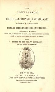 Cover of: The conversion of Marie-Alphonse Ratisbonne