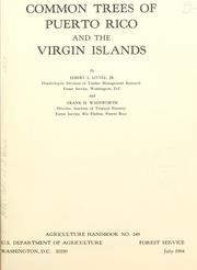 Cover of: Common trees of Puerto Rico and the Virgin Islands
