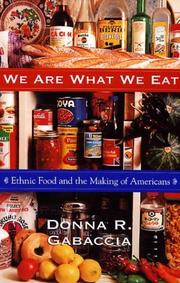 Cover of: We are what we eat