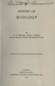 Cover of: History of biology