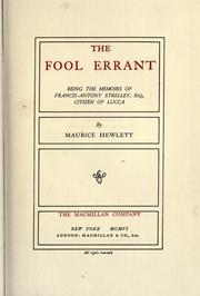Cover of: The Fool Errant