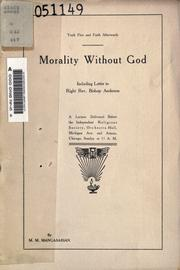 Cover of: Morality without God