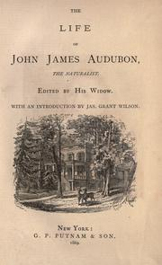 Cover of: The life of John James Audubon, the naturalist
