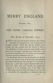 Cover of: John Henry Cardinal Newman: in my own words