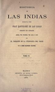 Cover of: Historia de las Indias