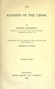 Cover of: The knights of the cross
