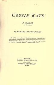Cover of: Cousin Kate: a comedy in three acts