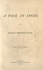 Cover of: A fool in spots
