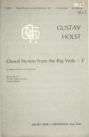 Cover of: Choral hymns from the Rig Veda
