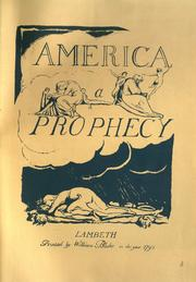 Cover of: America, a prophecy