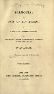 Cover of: Salmonia: or, Days of fly fishing