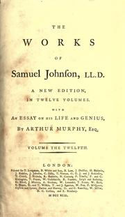 Cover of: The works of Samuel Johnson