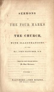 Cover of: Sermons on the four marks of the Church