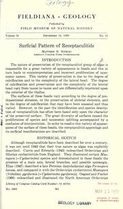 Cover of: Surficial pattern of receptaculitids