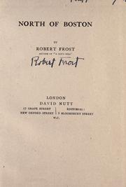 Cover of: North of Boston