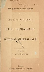 Cover of: The Life & Death of King Richard II