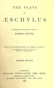 Cover of: The plays of Aeschylus