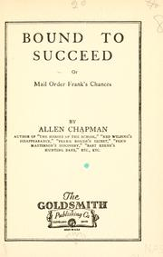 Cover of: Bound to succeed, or, Mail order Frank's chances