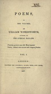 Cover of: Poems in two volumes