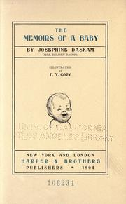 Cover of: The memoirs of a baby