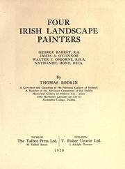 Cover of: Four Irish landscape painters