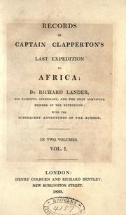 Cover of: Recordsokf Captain Clapperton's last expedition to Africa