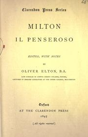 Cover of: Il penseroso