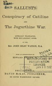 Cover of: Conspiracy of Catiline and the Jugurthine War