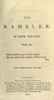 Cover of: The rambler: in four volumes.