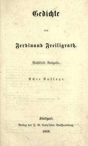 Cover of: Gedichte