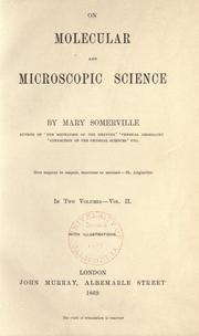 Cover of: On molecular and microscopic science