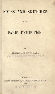 Cover of: Notes and sketches of the Paris exhibition