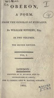 Cover of: Oberon, a poem: from the German of Wieland. By William Sotheby, Esq.
