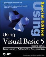 Cover of: Using Visual Basic 5