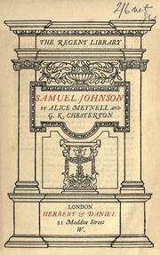 Cover of: Samuel Johnson