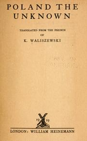 Cover of: Poland, the unknown