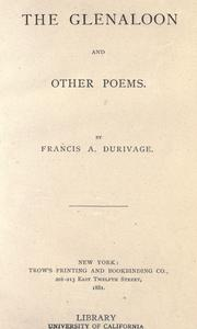 Cover of: The Glenaloon and other poems