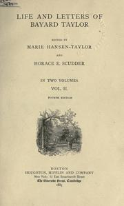 Cover of: Life and letters of Bayard Taylor