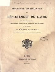Cover of: Repertoire archeologique du Departement de L'Aube