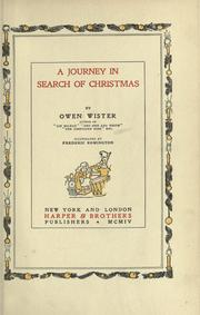Cover of: A journey in search of Christmas