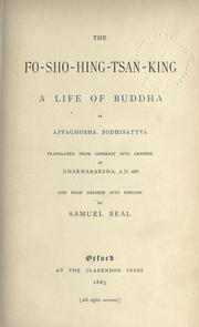 Cover of: The Fo-sho-hing-tsan-king, a life of Buddha