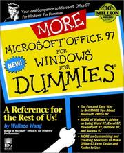 Cover of: More Microsoft Office 97 for Windows for dummies