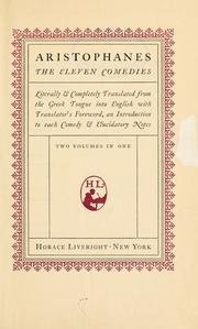 Cover of: The  eleven comedies