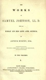 Cover of: The works of Samuel Johnson, LL.D.