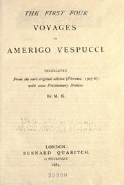 Cover of: The first four voyages of Amerigo Vespucci