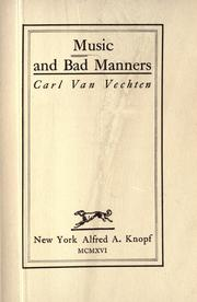 Cover of: Music and bad manners