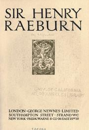 Cover of: Sir Henry Raeburn