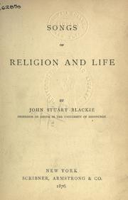 Cover of: Songs Of Religion And Life